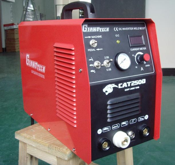 GiantTech CAT250D 3-in-one Comb TIG/Stick Welder & Plasma Cutter